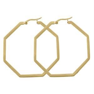 Picture of Gold Octagonal Hoops